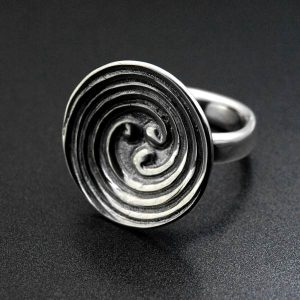 3 branch celtic labyrinth spiral silver ring - ALLDEADS