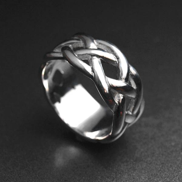 Celtic 3 branched silver ring