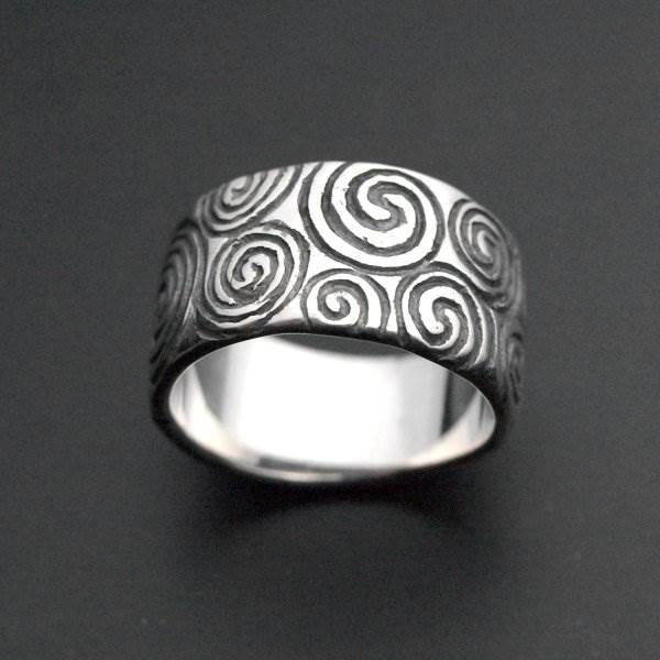 Celtic spirals silver 925 ring - ALLDEADS