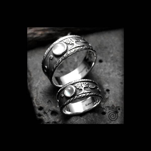 Duo alliances tree of life silver and moon stone
