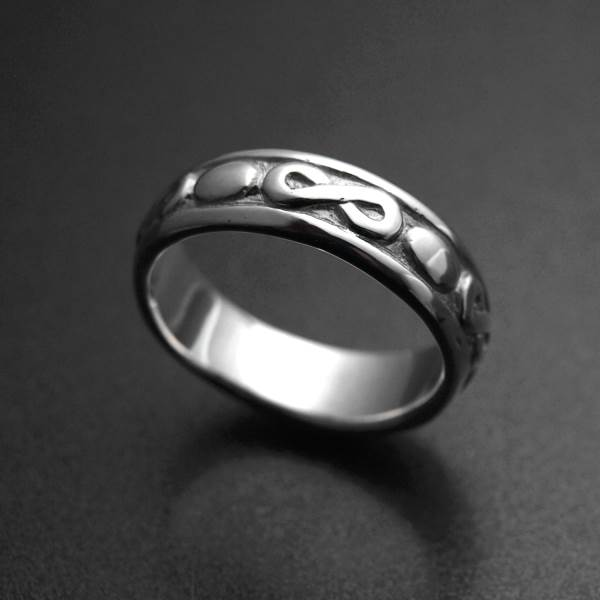 Infinity symbol silver ring - ALLDEADS