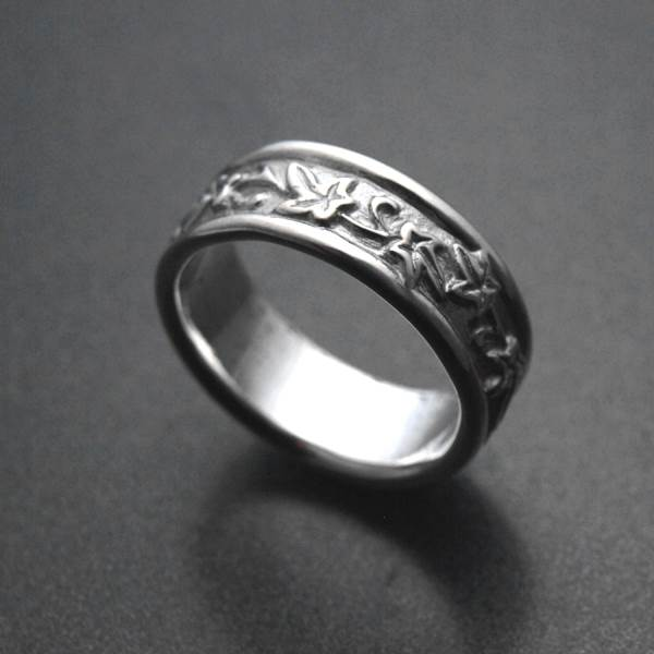 Ivy leaf silver ring - ALLDEADS
