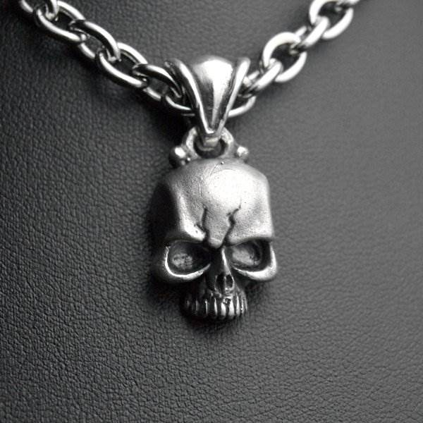Silver skull without jaw beliere pendant - AllDeads